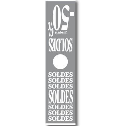 """Affiche mannequin """"SOLDES"""" L40 H168 cm"""