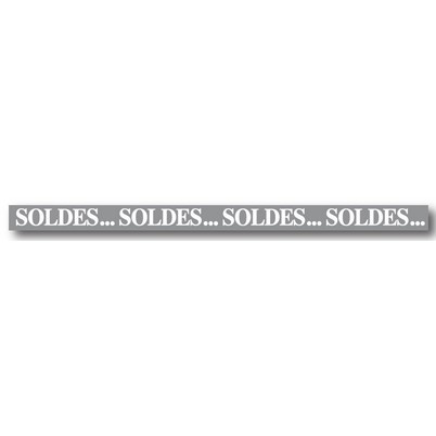"""Bandeau """"SOLDES...SOLDES...SOLDES..."""" L10 H168 cm"""