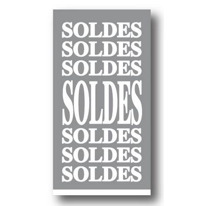 """Affiche """"SOLDES SOLDES SOLDES..."""" L40 H73 cm"""