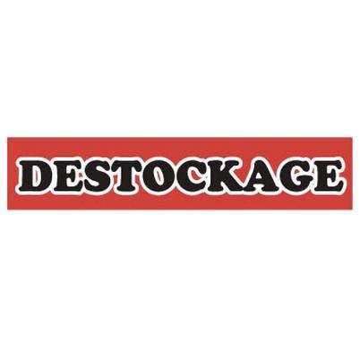 "Affiche ""DESTOCKAGE"" fluo L115 H25 CM"
