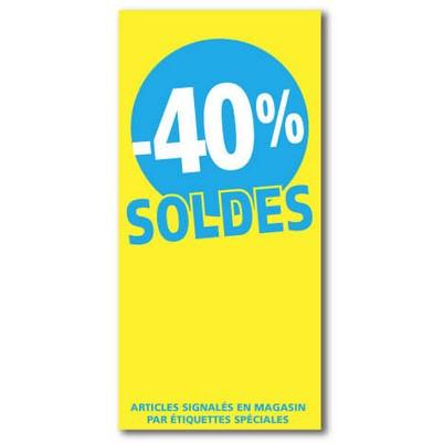 """Affiche """"SOLDES -40%"""" L56 H115 cm"""