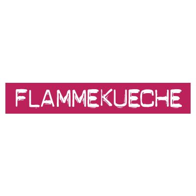 """STICKER satiné L60 H10 cm """"FLAMMKUECHE"""""""
