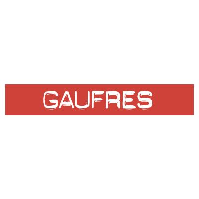 """STICKER satiné L60 H10 cm """"GAUFRES"""""""