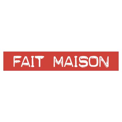 """STICKER satiné L60 H10 cm """"FAIT MAISON"""""""