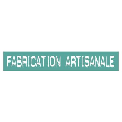 """STICKER satiné L60 H10 cm """"FABRICATION ARTISANALE"""""""