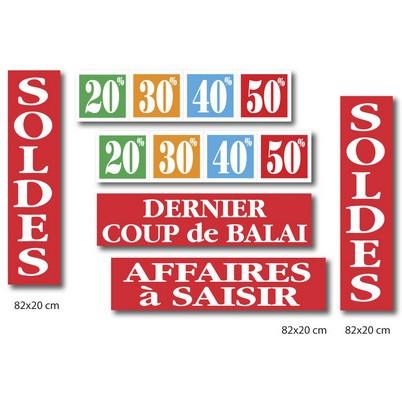 """Le kit de 6 affiches """"SOLDES"""" 02"""