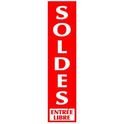 """Affiche """"SOLDES"""" L40 H165"""