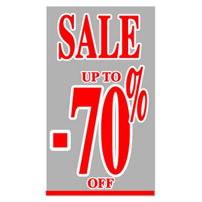 "Poster ""SALE UP TO -70 %"" 73 X 40 CM"