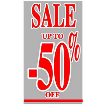 "Poster ""SALE UP TO -50 %"" 73 X 40 CM"