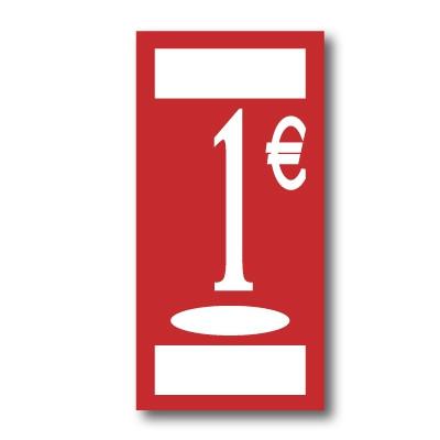 "Panneau polypro ""1€"" L19 H38 cm"