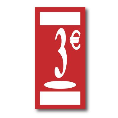 Panneau polypro 3€, 19x38cm