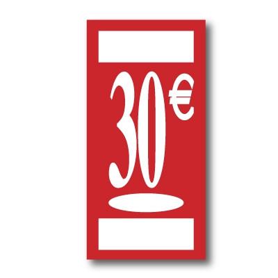 "Panneau polypro ""30€"" L19 H38 cm"