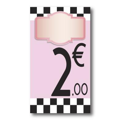 Panneau PVC 2€, 20x35cm