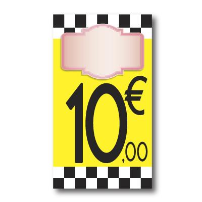 Panneau PVC 10€, 20x35cm