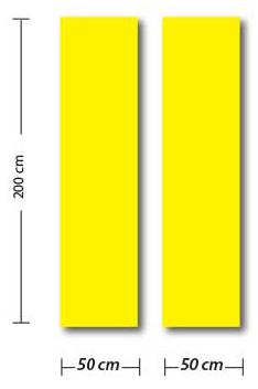 PANORAMIQUE VITRINE  2 x L50 H 200 cm