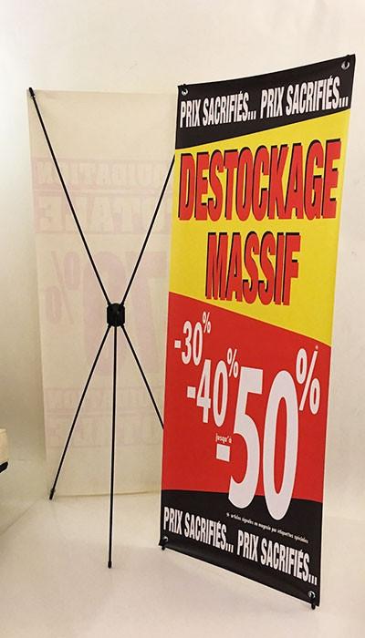 Bâche DESTOCKAGE MASSIF L60 H160 cm avec support 5 branches