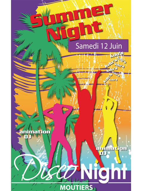 "Panneau ""SUMMER NIGHT"" L80 H120 cm"