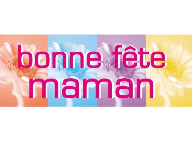"""Paquet de 50 étiquettes carton """"Bonne fête maman"""" multi couleur"""