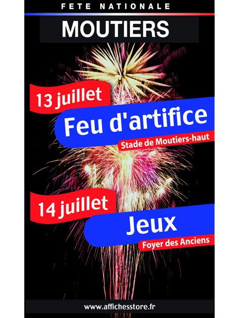"""Panneau """"FETE NATIONALE"""" L80 H120 cm"""