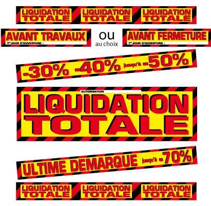 """Kit de 6 affiches """"LIQUIDATION TOTALE"""""""