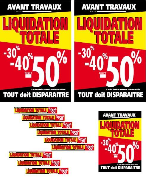 """Kit de 12 Affiches """"LIQUIDATION TOTALE"""" 04"""