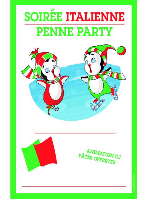 "Panneau ""SOIREE ITALIENNE"" L80 H120 cm"