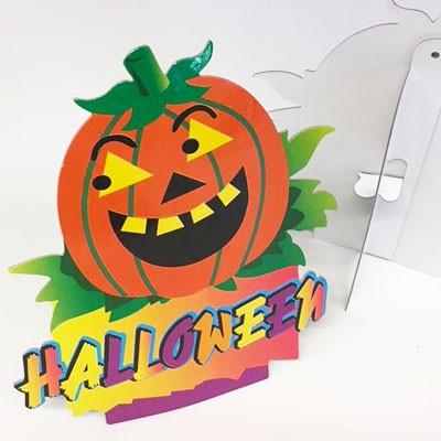 """Carton citrouille à poser """"HALLOWEEN"""" L28 H30 cm"""