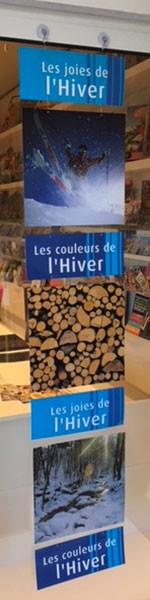 """7 cartons """"L'Hiver"""" L34 H200 cm"""