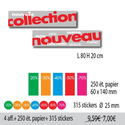 KIT de 2 affiches NOUVELLE COLLECTION