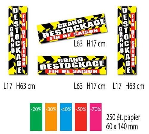 Kit de 4 affiches + 250 étiquettes papier