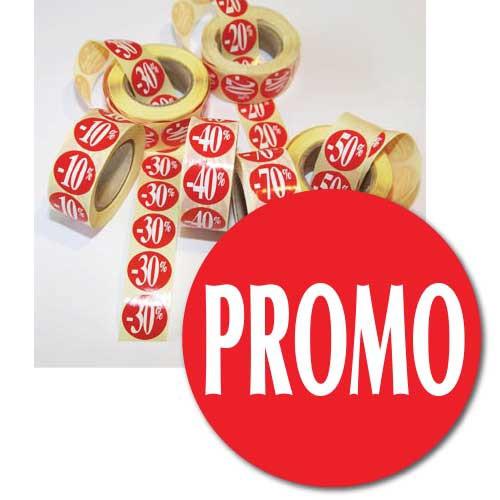 "Rouleau de 500 stickers ""PROMO""  24 mm"
