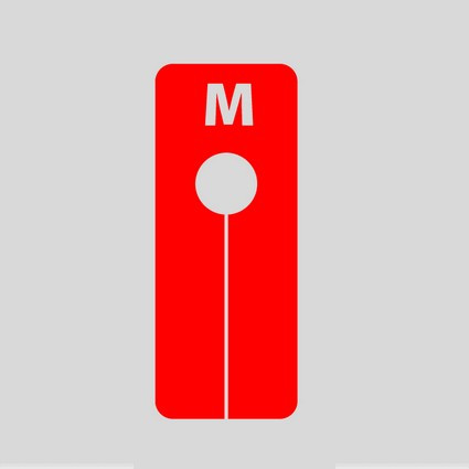 "Marque taille ""M"" rouge"