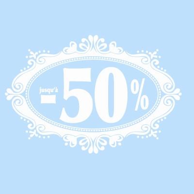 """Vitro """"jusqu'à -50 %"""" 50 x 70 cm"""