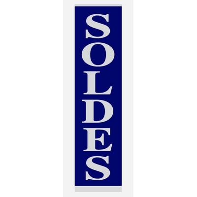 """Affiche """"SOLDES"""" L20 H82 CM"""