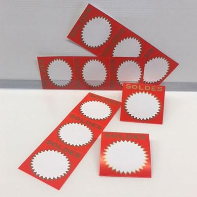 """Paquet de 200 étiquettes papier """"SOLDES"""" L70 H85 mm"""