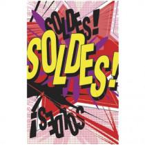 """Affiche """"SOLDES"""" XXL - version BD L120 H170  cm"""