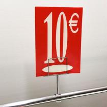 "Panneau polypro ""10€"" L17,5 H24,5 cm"