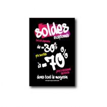 """Affiche """"SOLDES -70%"""" L75  H100cm"""