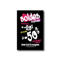 """Affiche """"SOLDES -50%"""" L75  H100cm"""