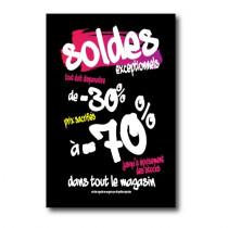 """Affiche """"SOLDES -70%"""" L100 H150cm"""
