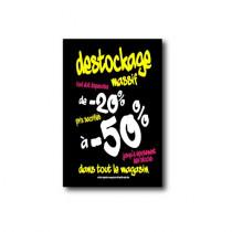 "Affiche ""DESTOCKAGE -50%"" L75 H100cm"