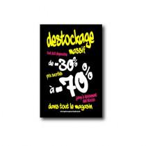 "Affiche ""DESTOCKAGE -70%"" L75 H100cm"