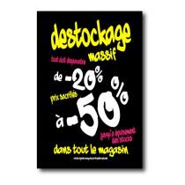 "Affiche ""DESTOCKAGE -50%"" L100 H150cm"