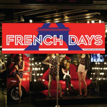 "Affiche ""FRENCH DAYS"" L150 H50cm"