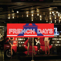 "Affiche ""FRENCH DAYS"" L70 H20cm"