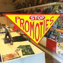 Poster STOP PROMOTIES  L82 H41 cm
