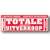 Grote affiche, TOTALE UITVERKOOP, 176 x 60 cm.