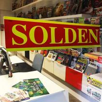 """Poster  """"SOLDEN"""" L82 H20cm"""