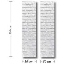 PANO VITRINE BRIQUES 2 x L50 H 200 cm