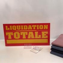 """Panneau polypro """"liquidation totale"""" L38 H19 cm"""